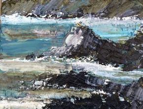 South Bruny Rocks oil on canvas 40x51cm $3300 incl gst