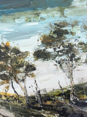 Two Trees oil on canvas 51x38cm $3300 incl gst