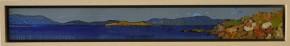 Web Ian Marr Mt Wellington from Adventure Bay enamel on copper 4.6 x 44.6 cm