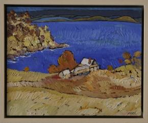 Web sizeIan Marr Water View enamel on copper 20 x 25 cm