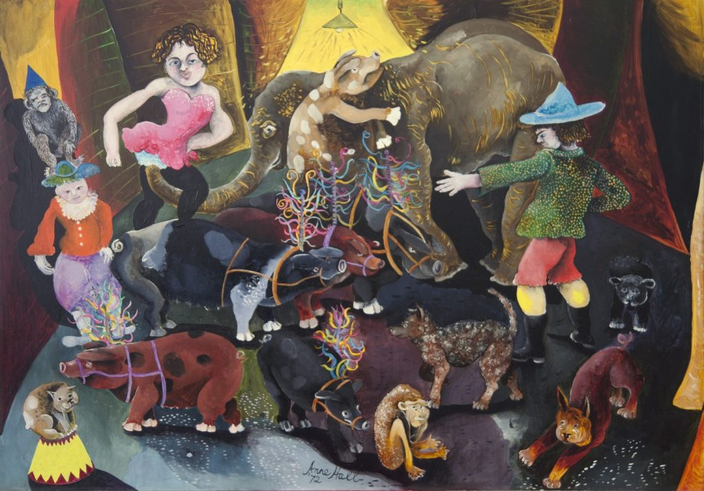 The Performing pigs 1972 a. hall 85 x 121