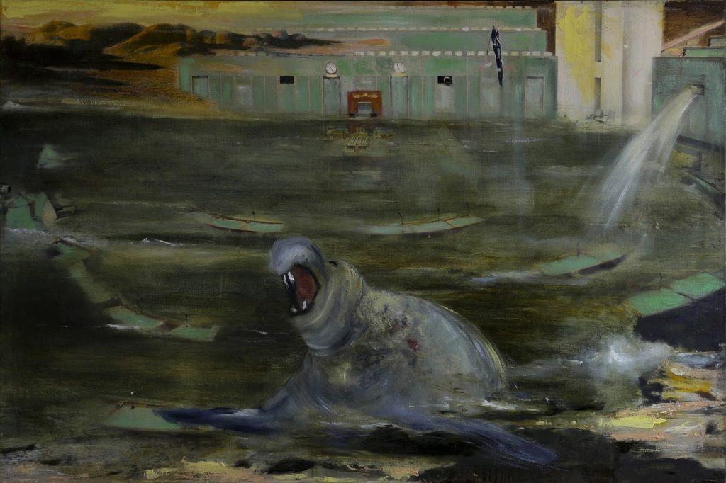 Rodney Pople - ' Girt by Sea' Paddington Art Prize 2016, 102 x148 cm, Oil on Linen